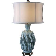 Buy Uttermost Amoroso Ceramic Lamp in Blue on sale online
