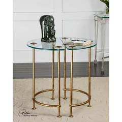 Buy Uttermost Aralu Glass 21x11 Side Tables - Set of 2 on sale online
