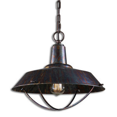 Buy Uttermost Arcada 1 Light Pendant in Bronze on sale online