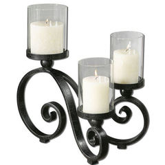 Buy Uttermost Arla Black Crackle Candleholder on sale online