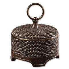 Buy Uttermost Aubriana Box in Brown over Silver on sale online
