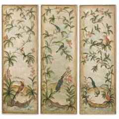 Buy Uttermost Aviary Panel 60x20 Canvas Art I, II, III (Set of 3) on sale online