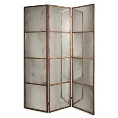 Buy Uttermost Avidan 3 Panel Screen 80x62 Decorative Mirror in Antique Gold on sale online