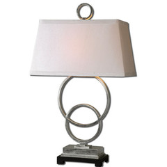 Buy Uttermost Bacelos Leaf Lamp in Silver on sale online