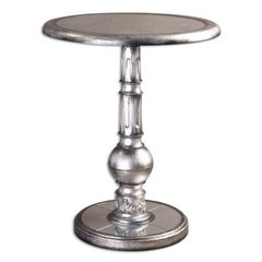 Buy Uttermost Baina Accent Table in Silver on sale online