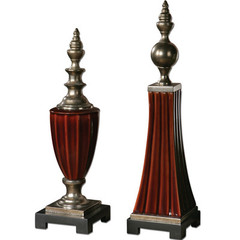 Buy Uttermost Bay Ceramic Finials (Set of 2) on sale online