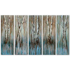 Buy Uttermost Birch Family 36x12 Rectangular Frameless Art (Set of 5) on sale online