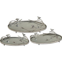 Buy Uttermost Birds On A Limb Mirrored Trays (set of 3) on sale online