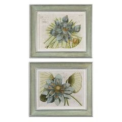 Buy Uttermost Blue Lotus Flower 28x24 Framed Wall Art I, II (Set of 2) on sale online