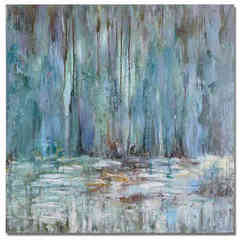Buy Uttermost Blue Waterfall 40 Inch Square Art on sale online