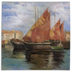 Buy Uttermost Bright Sailing 40x40 Canvas Art on sale online