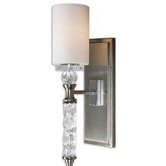 Buy Uttermost Campania 1 Light Carved Glass Wall Sconce on sale online