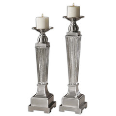 Buy Uttermost Canino Mercury Glass Candleholders (Set of 2) on sale online