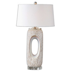 Buy Uttermost Carbonado Lamp in Ivory on sale online