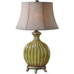Buy Uttermost Carentino 33 Inch Table Lamp in Green on sale online
