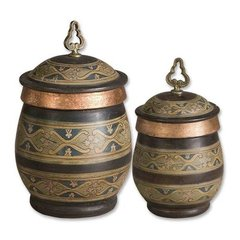 Buy Uttermost Cena Canisters in Blue (Set of 2) on sale online