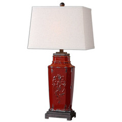 Buy Uttermost Centralia Lamp in Red on sale online
