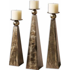 Buy Uttermost Cesano Candleholders in Bronze (set of 3) on sale online