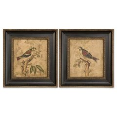 Buy Uttermost Colorful Birds On Branch 27x25 Wall Art I, II (Set of 2) on sale online