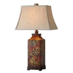Buy Uttermost Colorful Flowers 32 Inch Table Lamp on sale online