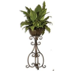 Buy Uttermost Costa Del Sol Potted Greenery Floor Vase on sale online