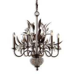 Buy Uttermost Cristal De Lisbon 6+2 Light Chandelier on sale online