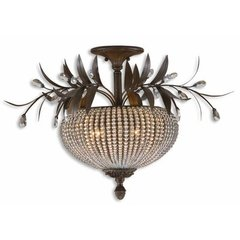 Buy Uttermost Cristal de Lisbon 3 Light Semi Flush Mount on sale online