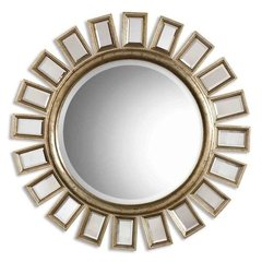 Buy Uttermost Cyrus 34 Inch Round Wall Mirror in Silver on sale online
