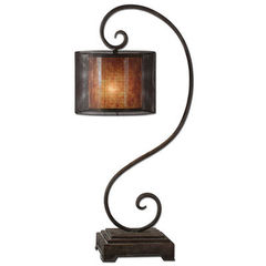 Buy Uttermost Dalou Scroll 38 Inch Lantern Table Lamp on sale online