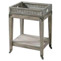 Buy Uttermost Davaughn Wooden 21x17 Serving Cart in Brown, Grey on sale online