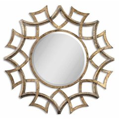 Buy Uttermost Demarco Round 40 Inch Round Wall Mirror in Antique Gold on sale online