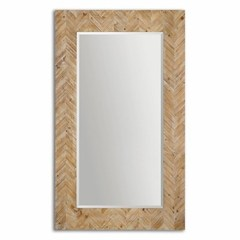 Buy Uttermost Demetria 74x44 Rectangular Oversized Wooden Floor Mirror on sale online