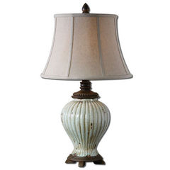 Buy Uttermost Dernice 28 Inch Table Lamp in Aged Ceramic on sale online