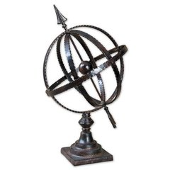 Buy Uttermost Diez Globe in Antique Brown on sale online