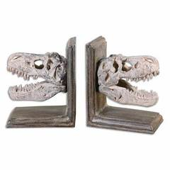 Buy Uttermost Dinosaur Bookends in Mahogany and Tan (Set of 2) on sale online