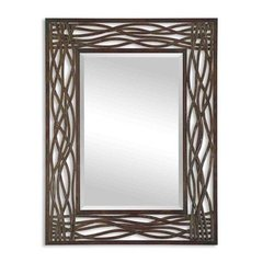 Buy Uttermost Dorigrass 42x32 Wall Mirror in Brown with Black on sale online