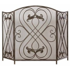 Buy Uttermost Effie Fireplace Screen in Aged Black on sale online