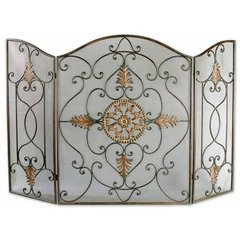 Buy Uttermost Egan Fireplace Screen in Brown on sale online