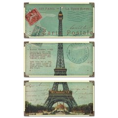 Buy Uttermost Eiffel Tower 36x23 Carte Postale (Set of 3) on sale online