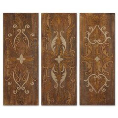 Buy Uttermost Elegant Swirl 40x15 Wall Art (Set of 3) on sale online