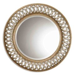 Buy Uttermost Entwined 45 Inch Round Wall Mirror in Antique Silver on sale online