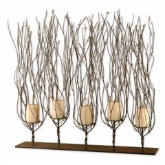 Buy Uttermost Fedora Candleholder in Dark Brown on sale online