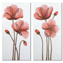 Buy Uttermost Floral 48x24 Rectangular Aura Art (Set of 2) on sale online