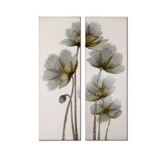 Buy Uttermost Floral Glow 60x20 Canvas Art I, II (Set of 2) on sale online