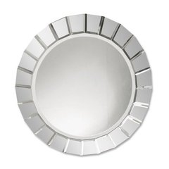 Buy Uttermost Fortune 34 Inch Round Wall Mirror in Antique Silver on sale online