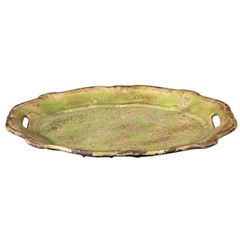 Buy Uttermost Gian Ceramic Tray in Crackled Green on sale online