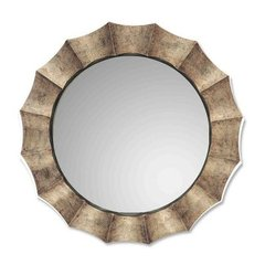 Buy Uttermost Gotham Round 41 Inch Round Wall Mirror in Antique Silver on sale online
