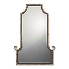 Buy Uttermost Himalaya Iron 42x29 Wall Mirror in Antique Gold on sale online