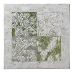 Buy Uttermost Interlocked Elements 32 Inch Square Canvas Art on sale online