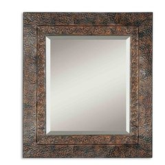 Buy Uttermost Jackson Metal 34x30 Wall Mirror in Brown on sale online
